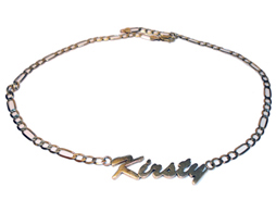 Small Low Karat Name Necklace