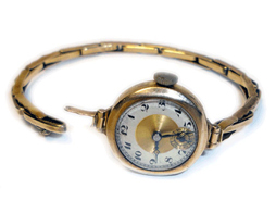 Smallish Watch And Strap Low Karat Gold